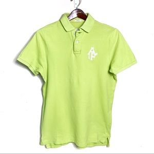 A&F Men's Polo In Neon Yellow